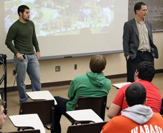 men in class