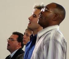men singing
